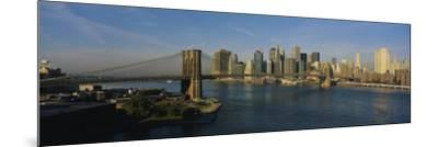 Bridge Across a River, Brooklyn Bridge, New York City, New York State, USA--Mounted Photographic Print