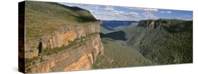 Panoramic View of Valley, Blue Mountains National Park, Australia--Stretched Canvas Print