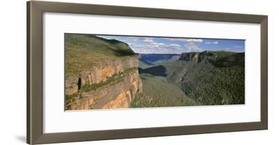 Panoramic View of Valley, Blue Mountains National Park, Australia--Framed Photographic Print