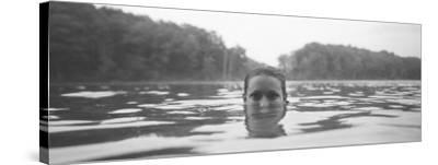 Portrait of a Woman's Face in Water--Stretched Canvas Print