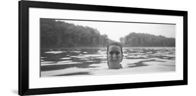 Portrait of a Woman's Face in Water--Framed Photographic Print