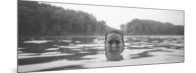Portrait of a Woman's Face in Water--Mounted Photographic Print