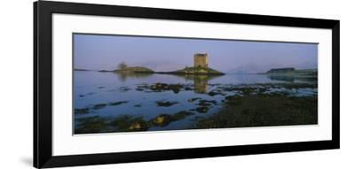 Reflection of a Castle in Water, Castle Stalker, Highlands, Scotland, United Kingdom--Framed Photographic Print