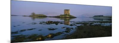 Reflection of a Castle in Water, Castle Stalker, Highlands, Scotland, United Kingdom--Mounted Photographic Print
