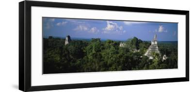 High Angle View of an Old Temple, Tikal, Guatemala--Framed Photographic Print