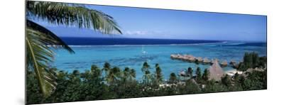 High Angle View of Beach Huts, Kia Ora, Moorea, French Polynesia--Mounted Photographic Print