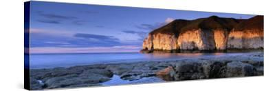 Clouds Over the Sea, Thornwick Bay, Yorkshire, England, United Kingdom--Stretched Canvas Print