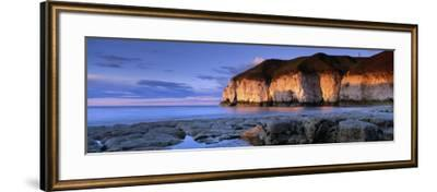 Clouds Over the Sea, Thornwick Bay, Yorkshire, England, United Kingdom--Framed Photographic Print