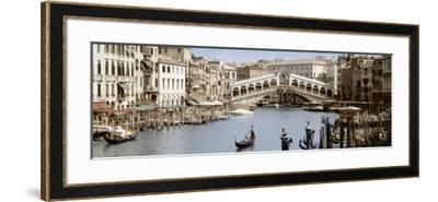Bridge Over a Canal, Rialto Bridge, Venice, Veneto, Italy--Framed Photographic Print
