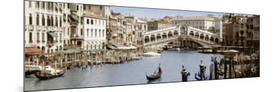 Bridge Over a Canal, Rialto Bridge, Venice, Veneto, Italy--Mounted Photographic Print