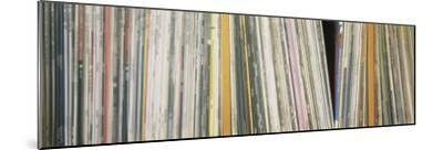 Row of Music Records, Germany--Mounted Photographic Print