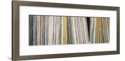 Row of Music Records, Germany--Framed Photographic Print