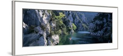 River Flowing Between Mountains, Verdon River, France--Framed Photographic Print