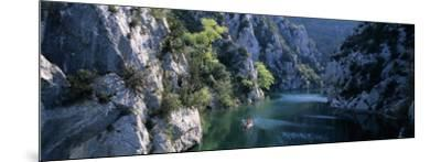 River Flowing Between Mountains, Verdon River, France--Mounted Photographic Print