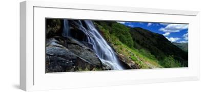 Water Flowing Over Rocks, Sourmilk Gill, Borrowdale, English Lake District, Cumbria, England, UK--Framed Photographic Print