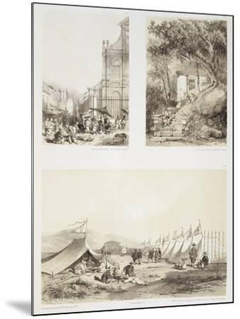 A Portuguese Church and a Chinese Street at Macao-Auguste Borget-Mounted Giclee Print