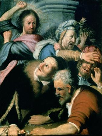 Christ Driving the Moneychangers from the Temple, 1626-Rembrandt van Rijn-Stretched Canvas Print