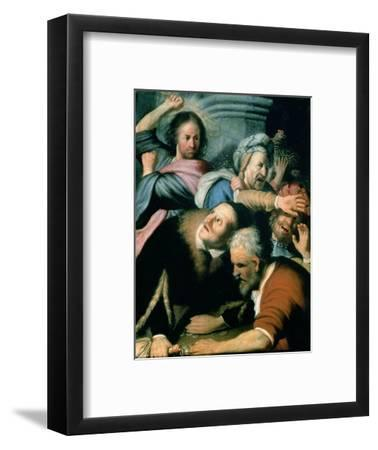 Christ Driving the Moneychangers from the Temple, 1626-Rembrandt van Rijn-Framed Premium Giclee Print