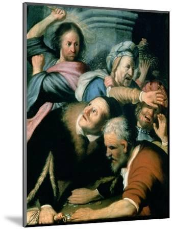 Christ Driving the Moneychangers from the Temple, 1626-Rembrandt van Rijn-Mounted Premium Giclee Print