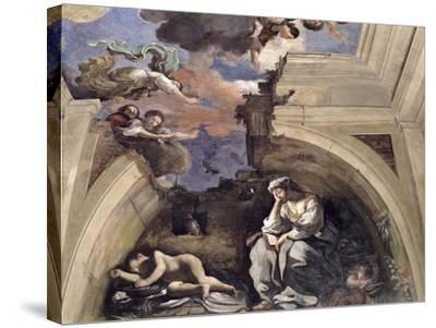 """The """"Sala Di Aurora"""" Detail of an Allegory of Night, 1621-Guercino (Giovanni Francesco Barbieri)-Stretched Canvas Print"""