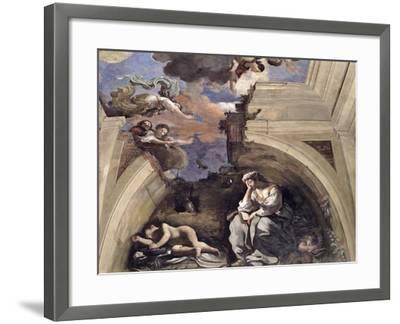 "The ""Sala Di Aurora"" Detail of an Allegory of Night, 1621-Guercino (Giovanni Francesco Barbieri)-Framed Giclee Print"