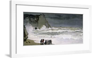 Rough Sea at Etretat, 1868-69-Claude Monet-Framed Giclee Print