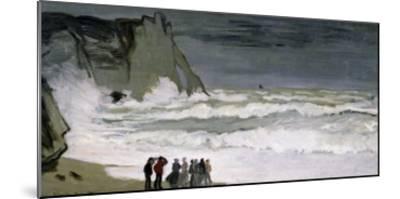 Rough Sea at Etretat, 1868-69-Claude Monet-Mounted Giclee Print