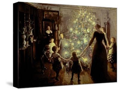 Silent Night, 1891-Viggo Johansen-Stretched Canvas Print