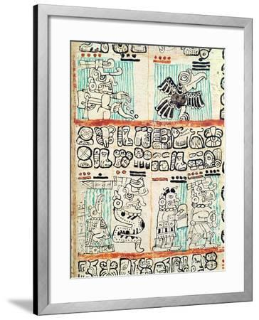 Detail from a Mayan Codex--Framed Giclee Print