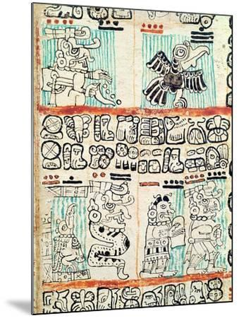 Detail from a Mayan Codex--Mounted Giclee Print