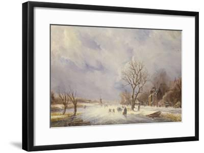 Winter Canal Scene-Jan Lynn-Framed Giclee Print