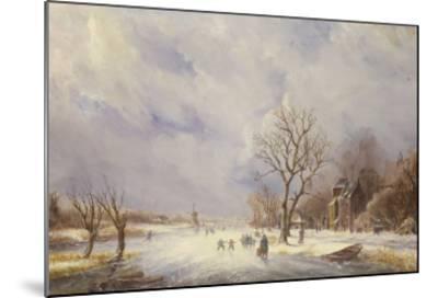 Winter Canal Scene-Jan Lynn-Mounted Giclee Print