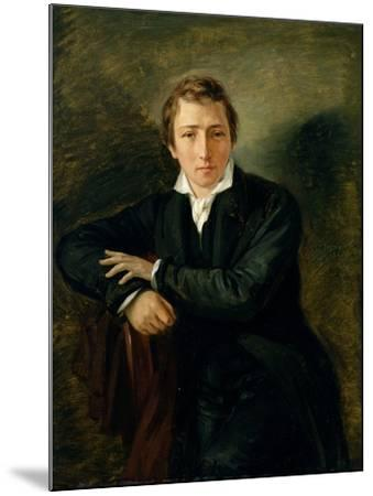 Portrait of Heinrich Heine 1831-Moritz Daniel Oppenheim-Mounted Giclee Print