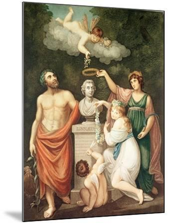 "Aesculapius, Flora, Ceres and Cupid Honouring Linnaeus, from ""The Temple of Flora"", Published 1800--Mounted Giclee Print"