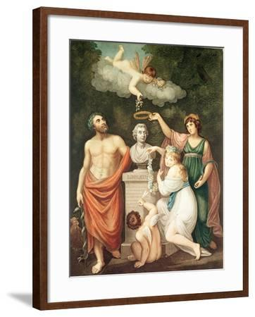 "Aesculapius, Flora, Ceres and Cupid Honouring Linnaeus, from ""The Temple of Flora"", Published 1800--Framed Giclee Print"