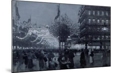 The Grands Boulevards, Paris, Decorated for the Celebration of the Franco-Russian Alliance in 1893-Luigi Loir-Mounted Giclee Print