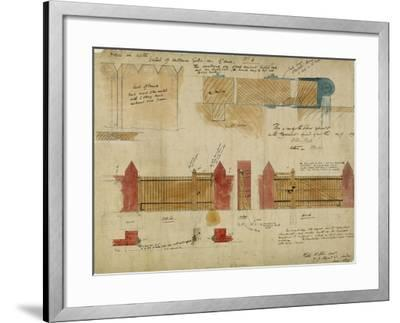 Plans and Elevations for the Red House, Bexley Heath, 1859-Philip Webb-Framed Giclee Print