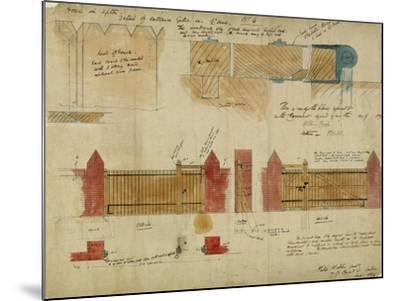 Plans and Elevations for the Red House, Bexley Heath, 1859-Philip Webb-Mounted Giclee Print
