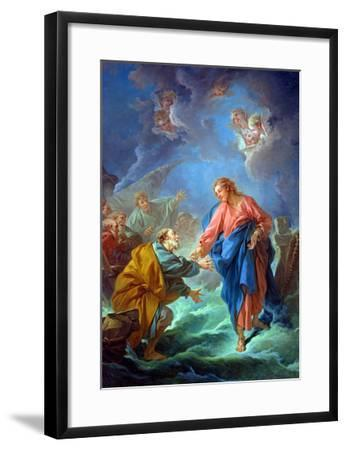 St. Peter Invited to Walk on the Water, 1766-Francois Boucher-Framed Giclee Print
