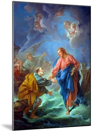 St. Peter Invited to Walk on the Water, 1766-Francois Boucher-Mounted Giclee Print