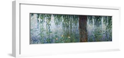 Waterlilies: Morning with Weeping Willows, Detail of the Left Section, 1915-26-Claude Monet-Framed Giclee Print