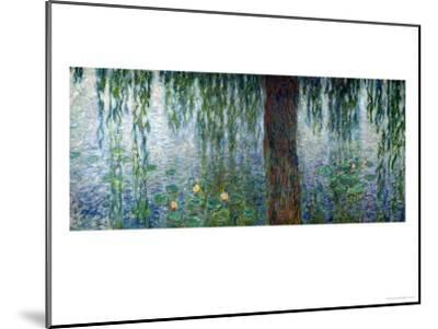 Waterlilies: Morning with Weeping Willows, Detail of the Left Section, 1915-26-Claude Monet-Mounted Giclee Print