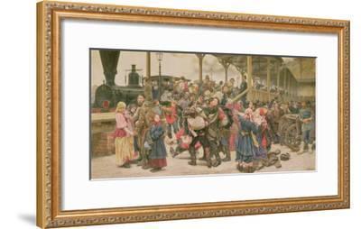 Departing for the War, 1888-Konstantin Apollonovich Savitsky-Framed Giclee Print