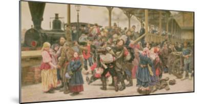 Departing for the War, 1888-Konstantin Apollonovich Savitsky-Mounted Giclee Print