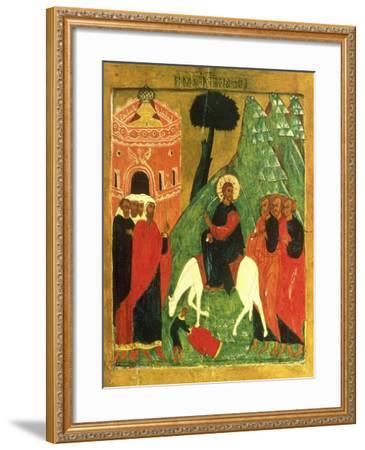 Icon Depicting Christ's Entry into Jerusalem--Framed Giclee Print