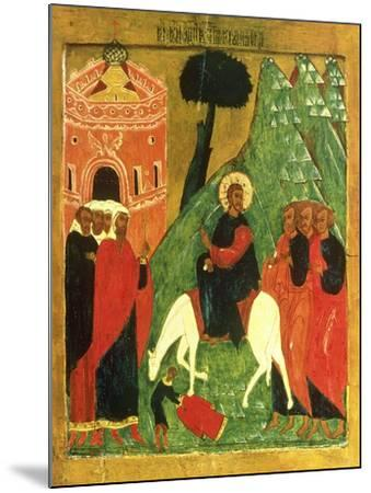 Icon Depicting Christ's Entry into Jerusalem--Mounted Giclee Print