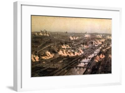 Panorama of the Fires in Paris During the Commune, May 1871-E. Daroy-Framed Giclee Print