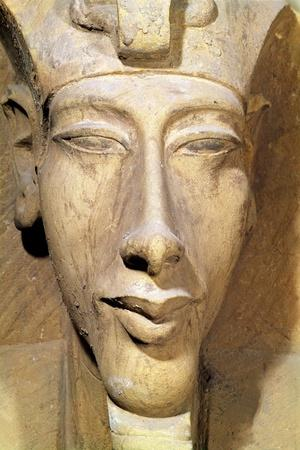 Bust of Amenophis IV from the Temple of Amun, Karnak, circa 1353-1337 BC--Stretched Canvas Print