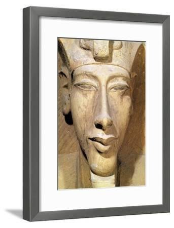 Bust of Amenophis IV from the Temple of Amun, Karnak, circa 1353-1337 BC--Framed Giclee Print