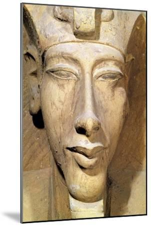 Bust of Amenophis IV from the Temple of Amun, Karnak, circa 1353-1337 BC--Mounted Giclee Print
